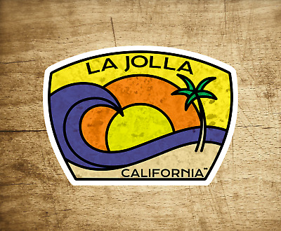 "La Jolla Beach California Decal Sticker 3.75"" X 2.75"" Surf San Diego Surfing"