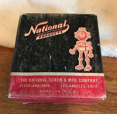 """National Products Screw Co Nat the Robot 10/32 x 1""""  Flat Head Brass Screws"""