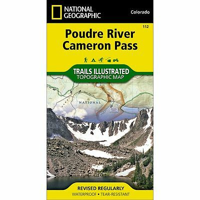 National Geographic Poudre River Cameron Pass Trails Illus Topo Map - CO - #112