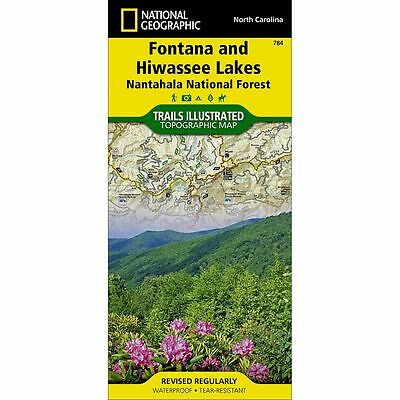 National Geographic Fontana and Hiwasee Lakes Trails Illus Topo Map - NC - #784