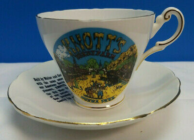 Vintage Regency English Fine Bone China Tea Cup and Saucer gold Knotts Berryfarm