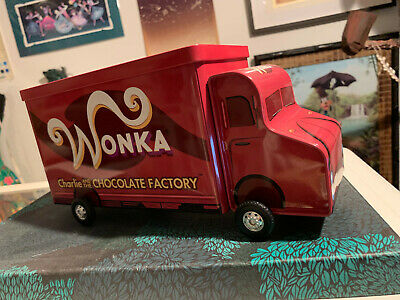 Charlie and the chocolate factory Willy wonka chocolate car truck can japan