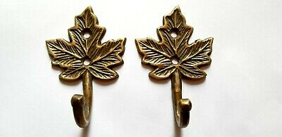 "2 Maple Leaf Coat Hat Towel Hooks Rustic, Cabin, Country Hooks 3"" long #C18"