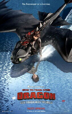 "025 How to Train Your Dragon 3 - The Hidden World Hiccup Movie 14""x22"" Poster"