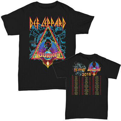Def Leppard & Journey Tour Dates 2018 T-shirt Men's Black size S-5XL tshirt