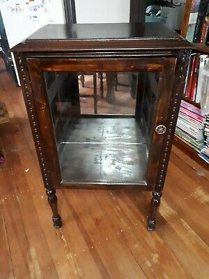Small Antique Display Cabinet with mirror back