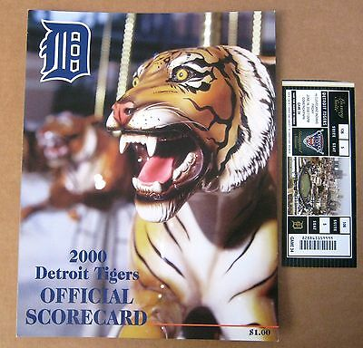 Detroit Tigers Comerica Park Inaugural Season Scorecard & Ticket