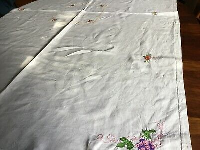 Vintage  handmade LARGE TABLECLOTH