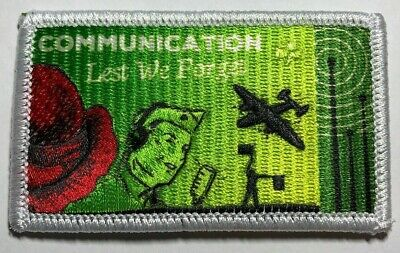 ANZAC Communications, Lest We Forget + Radio, Girl Guides Badge 2019