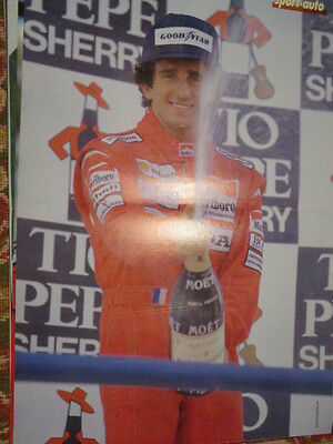 Poster 2 Pages Auto : Alain Prost