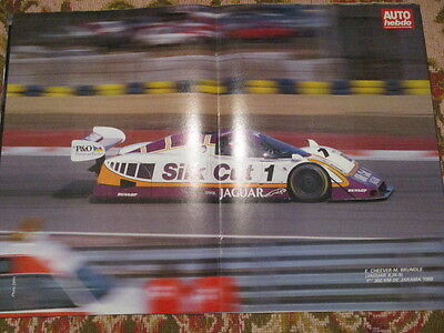 Poster 2 Pages Auto : Jaguar Xjr-9 Cheever Brundle
