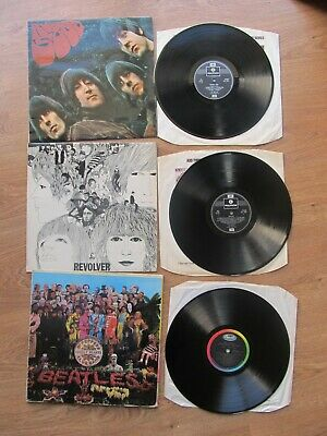The Beatles Lot of 3xLPs - Sgt Pepper, Revolver, Rubber Soul