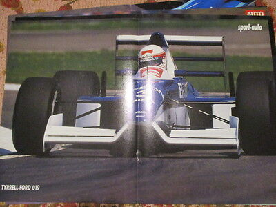 Poster 2 Pages Auto : Tyrrell Ford 019 N°3