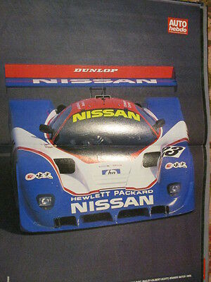 Poster 2 Pages Auto : Nissan R89C Bailey Brands Hatch 1989