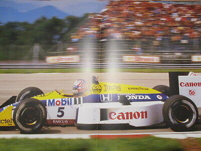 Poster 2 Pages Auto : Nigel Mansell Williams Honda