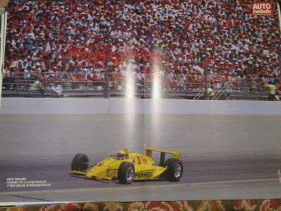 Poster 2 Pages Auto : Rick Mears Penske Pc17 Indianapolis