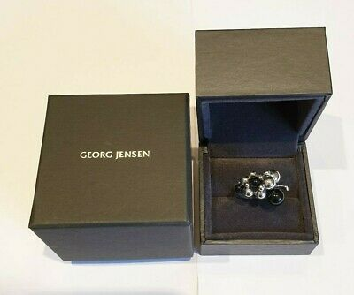 Georg Jensen Moonlight Grapes Sterling Silver & Black Onyx Ring 3559067