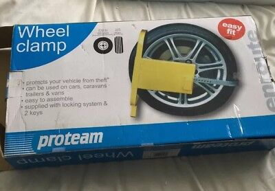 Easy Fit Wheel Clamp Car Caravan Van Boat 2 Keys Anti Theft Security
