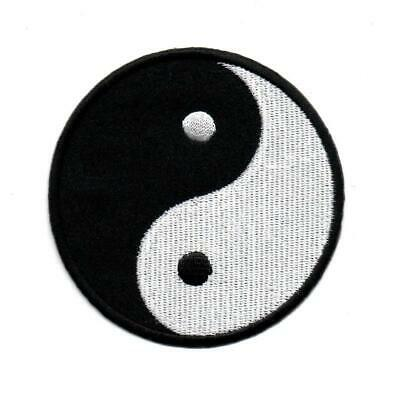 Yin Yang Ying Tao Hippie Retro Boho Weed P305 Embroidered Iron on Patch Jacket