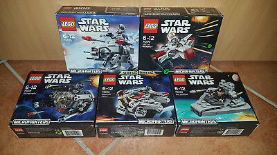 Lego 5x Microfighters Serie 1+2 Star Wars 75030 75031 75033 75072 75075