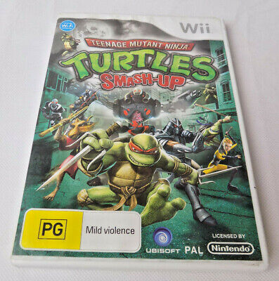 Mint Disc Nintendo Wii Teenage Mutant Ninja Turtles Smash Up Free Postage