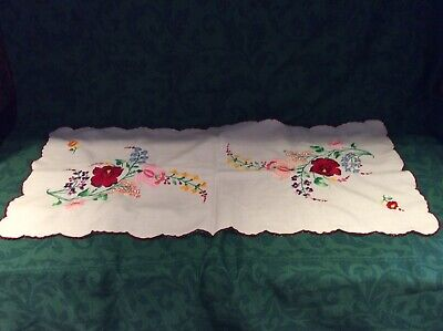 Hungarian Embroidered Table Runner 82 X 36 Cms UNUSED/NEW WITHOUT TAG