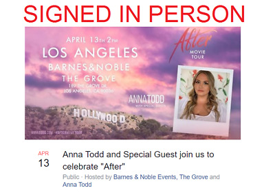 SIGNED After by Anna Todd, The After Series autographed, new, media tie-in ed.