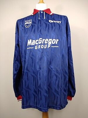 Retro Ross County 1995/96 Home Football Shirt Long Sleeve Size Large RARE