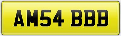 Amb Private Car Registration Reg Number Plate Am54 Bbb No Hidden Fees For Amber