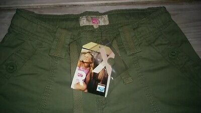 SAVE£20 New Roxy girls rrp£31.99 adjustable khaki trousers BNWT10/11years140cms