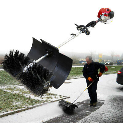 2.3HP 52CC GAS Power Hand Held Cleaning Sweeper Broom Driveway Artificial Grass