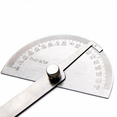 180 Degree Protractor Angle Ruler Stainless Steel  Woodworking Measuring Tool