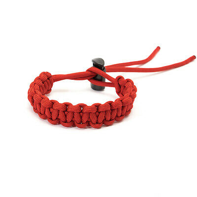 Adjustable Paracord Bracelet - Red - apmots Braided Outdoors Hike Survival Camp