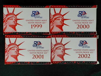 1999 to 2010 US Mint Silver Proof set