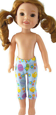 """Doll Clothes fits 14.5"""" American Girl WELLIE WISHER EASTER Leggings Capri's"""