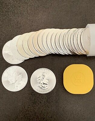 1 oz. 2019 Canadian Silver Maple Leaf Coins (Tube of 25) MintCertified BU