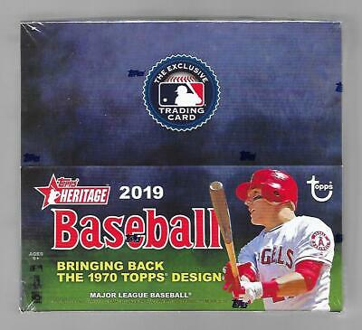 2019 Topps Heritage Baseball Retail Box Factory Sealed 24 Packs 9 Cards.