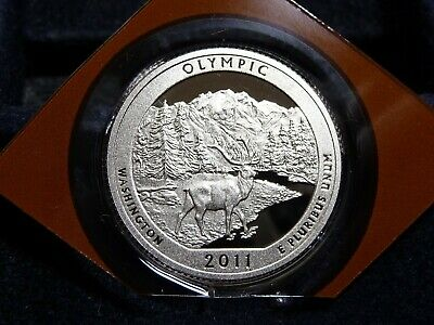 2011-S Olympic Nat'l Park Atb Quarter From Proof Set In Plastic  D-13-19