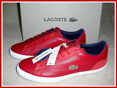 525222288090 LACOSTE LEROND 318 3 CAM Men s Casual Leather Shoes Sneakers Red ...