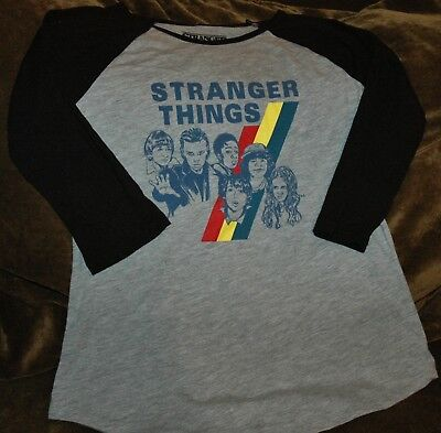 Stranger Things long sleeve shirt YOUTH XL New with Tags Netflix Original gray