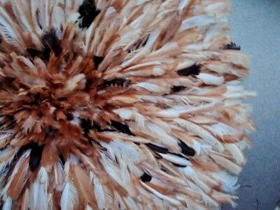"""27"""" Natural-Multi-color   / African Feather Headdress / JuJu Hat / 1st. Quality"""