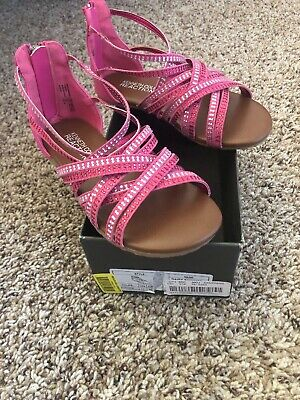 0ce95f6aabe KENNETH COLE REACTION Girls Gladiator Sandals Size 11 M Brown ...
