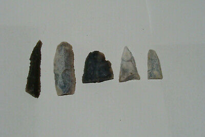 Stone spearheads or darts. Neolithic. 5 pcs.