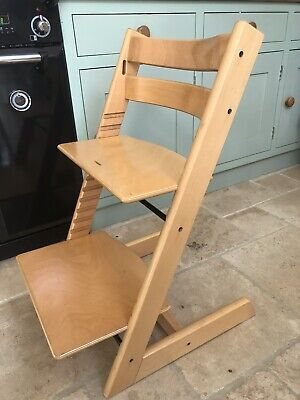 Stokke Tripp Trapp Chair Natural Wood High Chair Height Adjustable
