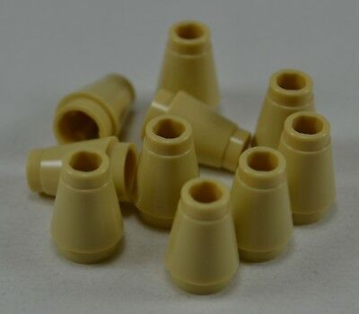 TAN ROUND CONE BRICK C423 10 LEGO 1x1 DOT BRICK YELLOW