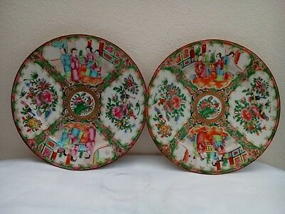 Chinese Canton Rose Medallion Famille Rose plate 1850s