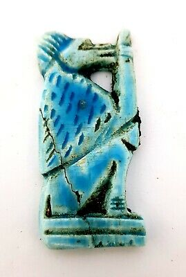 Rare Faience Amulet Baboon Figurine Ancient Egyptian Babi Antique CIRCA 600 BC