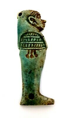 egyptian amulet ancient rare faience Amazing Necklace Priest Figurine Talisman
