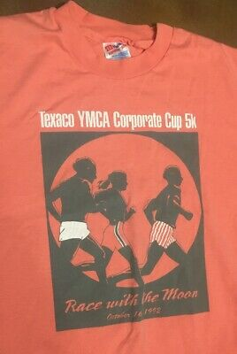 5ffe991f Vintage 90s T Shirt Large Mens YMCA 1992 Graphic Hanes 50/50 Usa Made