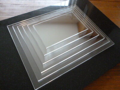 Set of 5 - 10 Inch Rectangle Ganaching Plates Acrylic & Free Scraper
